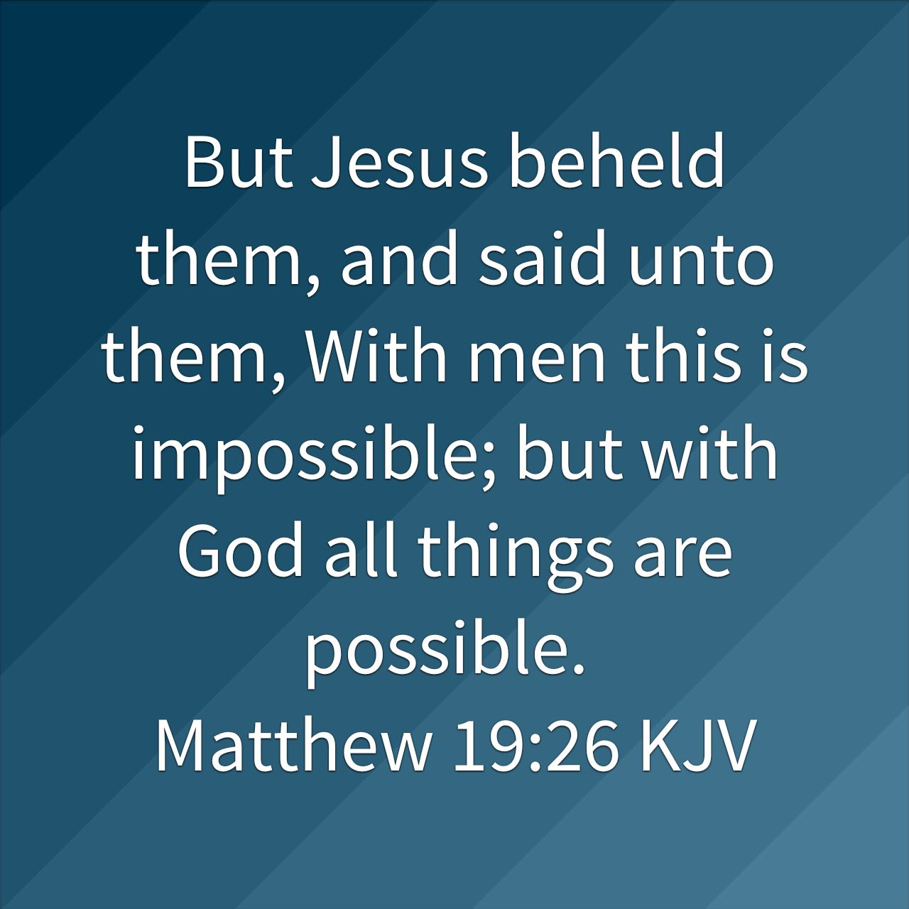 Nothing is impossible with God – John R Moore